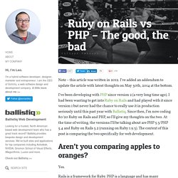 Ruby on Rails vs PHP – The good, the bad