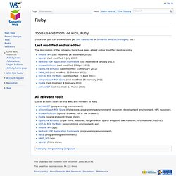 Ruby - Semantic Web Standards