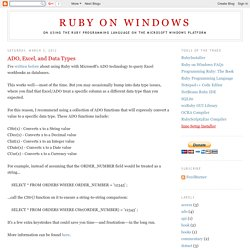 Ruby on Windows