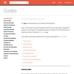 RubyGems Basics - RubyGems Guides