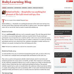 Blog — All about Ruby programming.