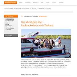 Rucksackreisen in Thailand