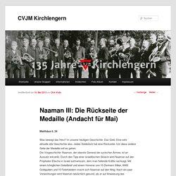 Naaman III: Die Rückseite der Medaille (Andacht für Mai)