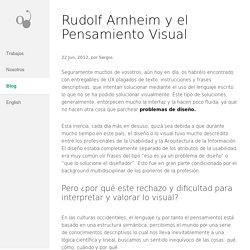 Rudolf Arhheim y el Pensamiento Visual