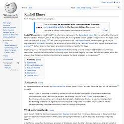 Rudolf Elmer