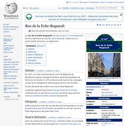 Rue de la Folie-Regnault