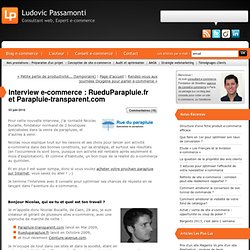 Interview e-commerce : RueduParapluie.fr et Parapluie-transparen