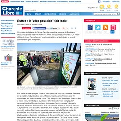 """Ruffec : le """"zéro pesticide"""" fait école"""