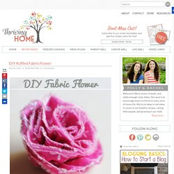 DIY Ruffled Fabric Flower
