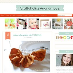 ruffled necklace | Craftaholics Anonymous™