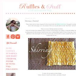 Shirring: a Tutorial!