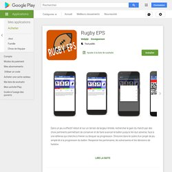 Rugby EPS – Applications sur GooglePlay