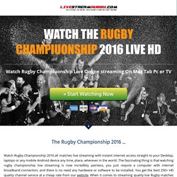 Rugby Championship Live 2016