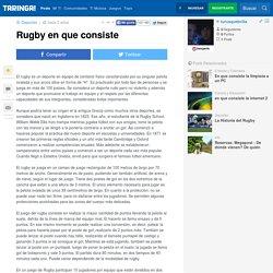Rugby en que consiste