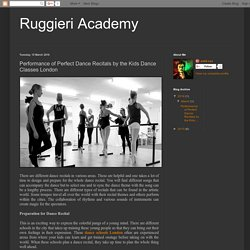 Ruggieri Academy: Performance of Perfect Dance Recitals by the Kids Dance Classes London