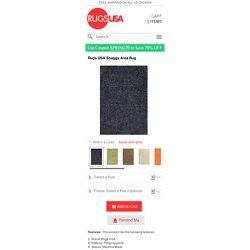 Rugs USA Shaggy Area Rug