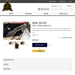 RUK 16 Kit Knife - TOPS Knives Tactical OPS USA