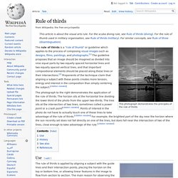 Rule of thirds - Wikipedia