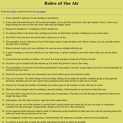 Rules of the Air
