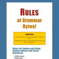 Rules at Grammar Bytes!