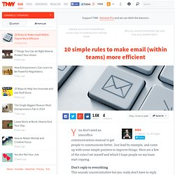 10 Rules to Make email Within Teams More Efficient