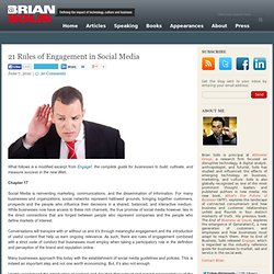 21 Rules of Engagement in Social Media