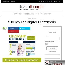 9 Rules For Digital Citizenship -
