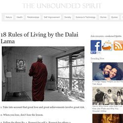 18 Rules of Living by the Dalai Lama | The Unbounded Spirit