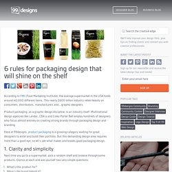 6 rules for packaging design that dive off the shelf -
