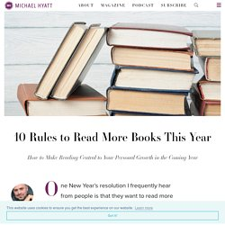 10 Rules to Read More Books This Year