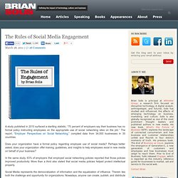 The Rules of Social Media Engagement Brian Solis