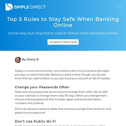 Top 5 Rules to Stay Safe When Banking Online