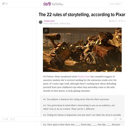 The 22 rules of storytelling, according to Pixar