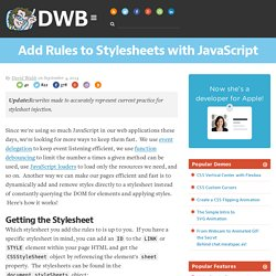 Add Rules to Stylesheets with JavaScript