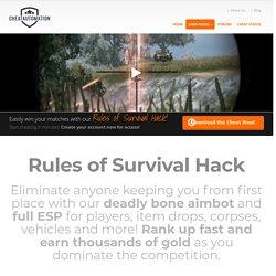 Rules of Survival Hack & RoS Hack