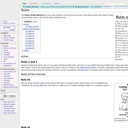 Rules - The LURKMORE Wiki