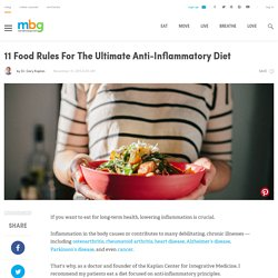11 Food Rules For The Ultimate Anti-Inflammatory Diet