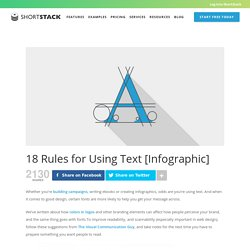 18 Rules for Using Text [Infographic] - ShortStack