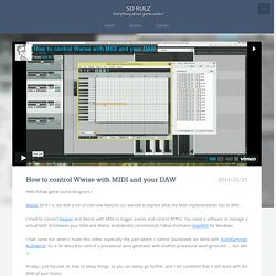 SD Rulz - How to control Wwise with MIDI and your DAW