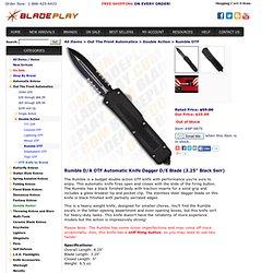 "Rumble D/A OTF Automatic Knife Dagger D/E Blade (3.25"" Black Serr)"