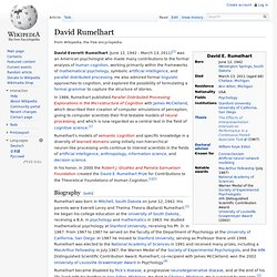 David Rumelhart