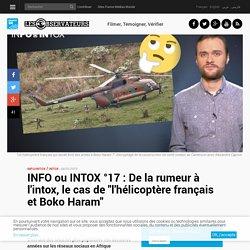 """INFO ou INTOX °17 : De la rumeur à l'intox, le cas de """"l'hélicoptère français et Boko Haram"""""""