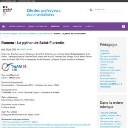 Rumeur : Le python de Saint-Florentin