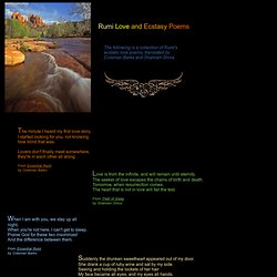 Rumi Love and Ecstasy Poems