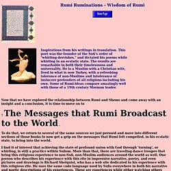 Rumi Ruminations - Wisdom of Rumi
