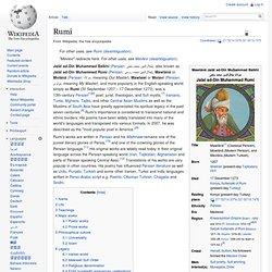 Rumi - Wikipedia, the free encyclopedia - Vimperator