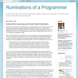 External DSLs made easy with Scala Parser Combinators