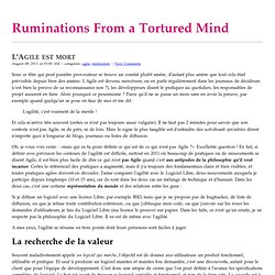 Ruminations From a Tortured Mind