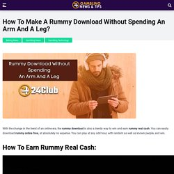 Rummy Download: Earn Real Cash by Playing Rummy