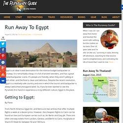 Run Away To Egypt